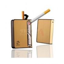 Shop Zone Cigarette Case With Lighter Golden