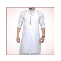 ShopIt Cotton Strip Kurta For Men - White