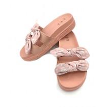 Shoppinggaardi Double Bow Slides Slippers For Women (SG-FD2)