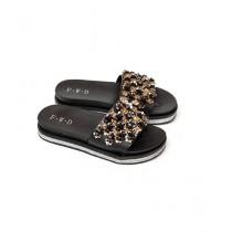 Shoppinggaardi Sparkle Beads Slippers For Women (SG-FD5)