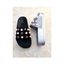 Shoppinggaardi Velvet Pearls Slippers For Women (SG-NP)