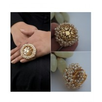 Singaar Collection Gold Plated Ring & Earrings (0019)