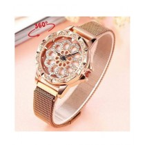 Singaar Collection Spinner Watch For Women Rose Gold