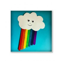SM Products Rainbow Popsicle Stick For Decoration