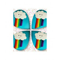SM Products Rainbow Popsicle Sticks For Decoration Pack Of 4