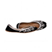 SNF Shoes Embroidered Khussa For Women Black (2118)