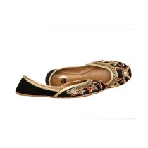 SNF Shoes Embroidered Khussa For Women Black (299)