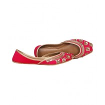 SNF Shoes Hand Embroided Khussa For Women Pink (2132)