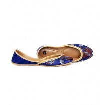SNF Shoes Leather Khussa For Women Blue (259)