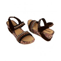 SNF Shoes Wedge Heel For Women Brown (761)