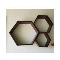 SNM 3 Sets Honeycomb Wall Shelf