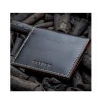 Snug Be Fold Leather Wallet/Card Holder For Men Charcoal (CC-01)