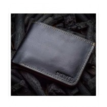 Snug Bi Fold Leather Wallet For Men Charcoal (CC-04)