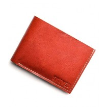 Snug Bi Fold Leather Wallet For Men Tan (Tan-02)
