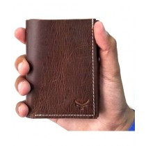 Snug Haze Leather Wallet For Men Brown