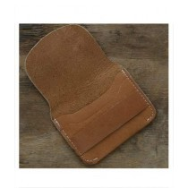 Snug Tanned Leather Card Holder For Men Canary