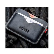 Snug Tiny Leather Wallet For Men Charcoal (CC-05)