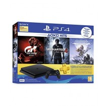 Sony PlayStation 4 500GB Slim Console with Free Games Gran Turismo - Sport, Uncharted 4 and Horizon Zero Dawn
