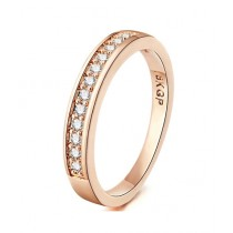 SS Mart Classic Circle Cubic Zirconia Rings For Women