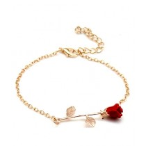 SS Mart Rose Design Chain Bracelet Charms Flower For Women (0038)
