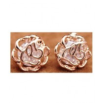 SS Mart Small Hollow Out Flower Stud Earrings Gold For Women (0029)