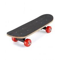 Brand Mall Standard Size Skateboard Black/Red