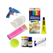 Student Point Stationary & Art Package For Kids - Pack Of 8