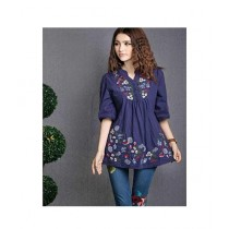 Studio 21 Embroidered Top For Women Royal Blue (0049)