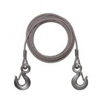 SubKuch Emergency Steel Wire Towing Rope Grey