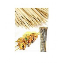 "SubKuch 4"" BBQ Bamboo Sticks Pack Of 100 (UP-0085)"