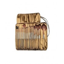 SubKuch Cosmetic Brushes With Pouch Brown Pack Of 24 (BDDP-PDDP)