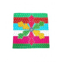 SubKuch Cotton Applique Handwoven Cushions Pack Of 4 (B61, P11.3)