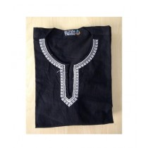 SubKuch Cotton Kurta For Men Black (B 500, P 1001)
