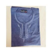 SubKuch Cotton Kurta For Men Blue (B 106, P 39)