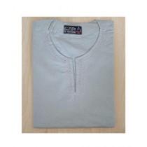 SubKuch Cotton Kurta For Men Grey