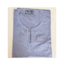 SubKuch Cotton Kurta For Men Grey (B 106, P 41)