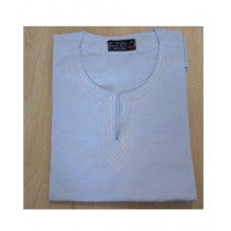 SubKuch Cotton Kurta For Men White (B 106, P 46)