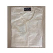 SubKuch Cotton Kurta For Men Yellow