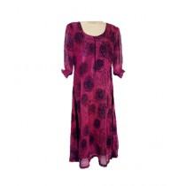 SubKuch Crinkle Chiffon Long Shirt Black/Pink (B 619, P 147)