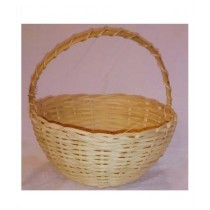 SubKuch Hand Made Medium Wooden Basket Pack Of 3 (Bdp,Pdp)