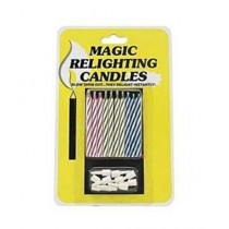 SubKuch Magic Relighting Birthday Candles Pack of 10 Multicolor