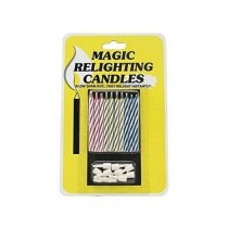 SubKuch Magic Relighting Birthday Candles Pack of 20 Multicolor
