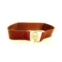 SubKuch Next Casual Stretchable Belt For Women Brown