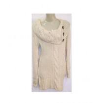 SubKuch Woolen Sweater For Women White