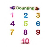 Super Style Store Kids Numbers Wall Stickers - 10 Numbers