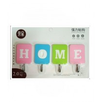 TechSolz Wall Hooks For Hanging Set Of 4 Multicolor