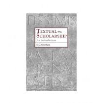 Textual Scholarship An Introduction Book Reprint Edition