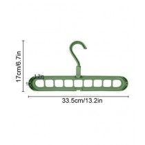 The Mart One 360 Rotation Space Saving Clothes Hanger Plastic Green