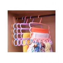 The RUBIAN Store 2 IN 1 5 Rings 3 Layers Hanger