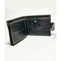 The Fashion Leather Diecut Loop Wallet For Men Black (W004)